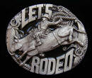 Let's Rodeo Belt Buckle