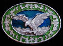 Filligree Eagle Ladies Size Belt Buckle