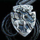 Diamond Cut End Of The Trail Bolo Tie