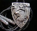 Diamond Cut Eagle With Arrowhead Bolo Tie