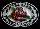Filligree Rose Ladies Belt Buckle