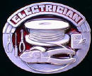 Colored Electrician Belt Buckle