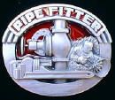 Colored Pipefitter Belt Buckle