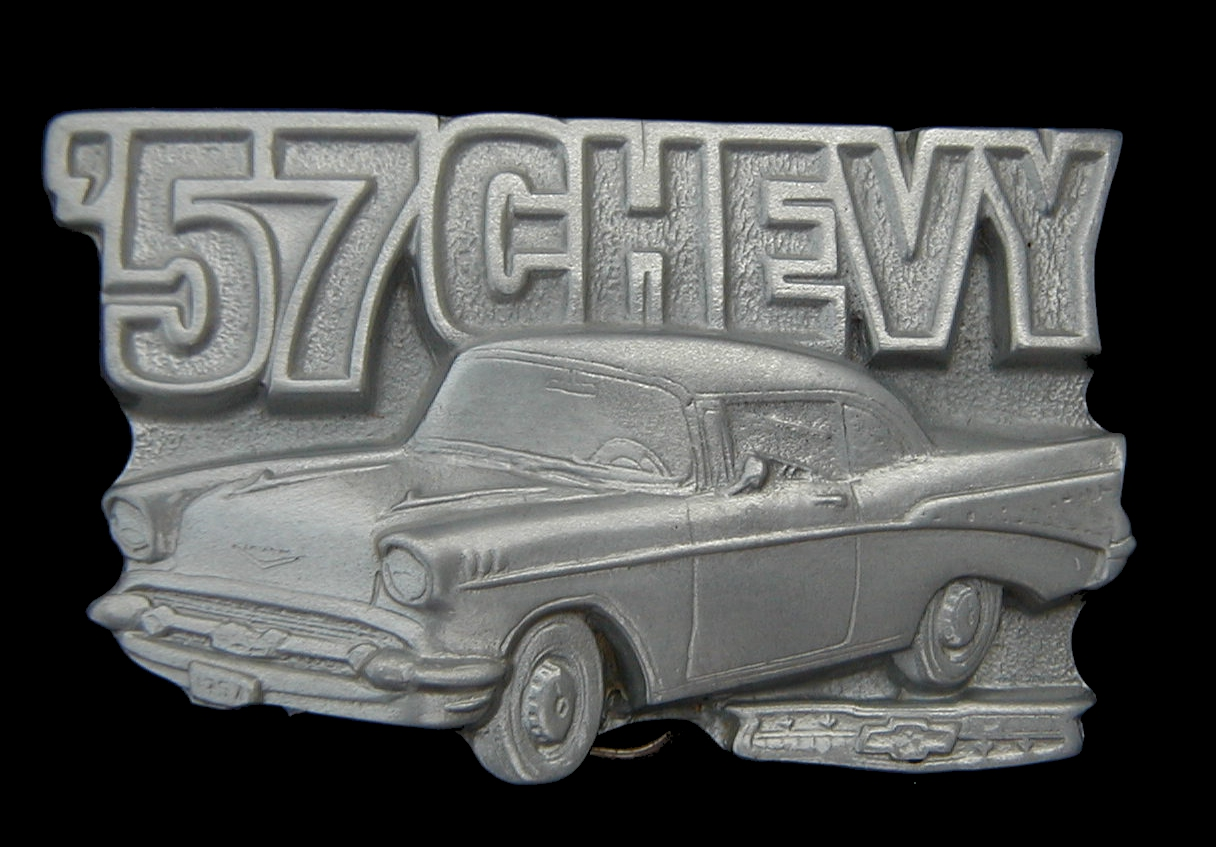 NICE 57 CHEVY BELT BUCKLE BUCKLES LICENSED NEW