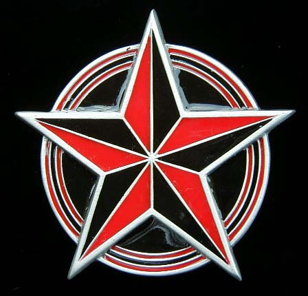 nautical red black red and black nautical star