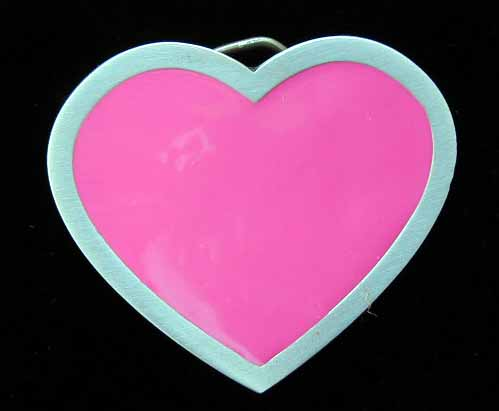 "4621E Pink Heart 2 7/8"" by 2 1/2"""