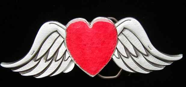 "pics of a heart with wings. 4734E Heart With Wings 5 1/2"" by 2"""