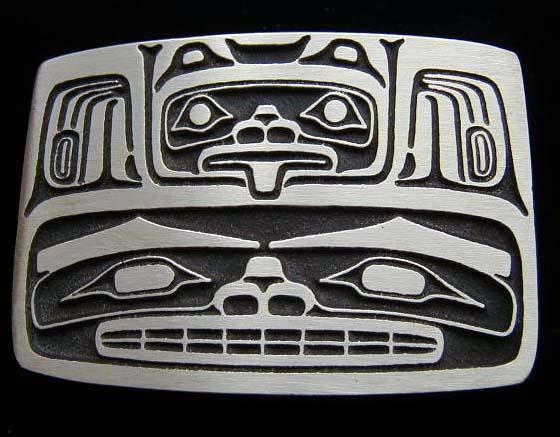 Sand Cast Bronze Nwc Totemic Native American Belt Buckles