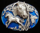 Horse And Saddle Belt Buckle