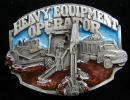 Colored Heavy Equipment Belt Buckle