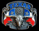 Colored Texas Belt Buckle