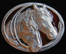 Ladies Horse And Lariat Belt Buckle