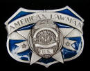 Colored American Lawman Belt Buckle